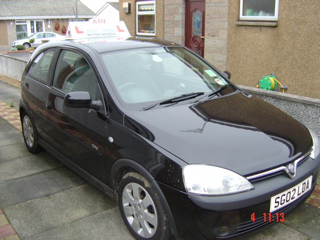 Your tuition car is a Vauxhall Corsa 1.2 SXI 2005 and is fitted with HE MAN